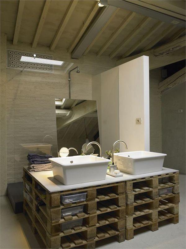 Pallet no banheiro joia de casa for Muebles palets pdf