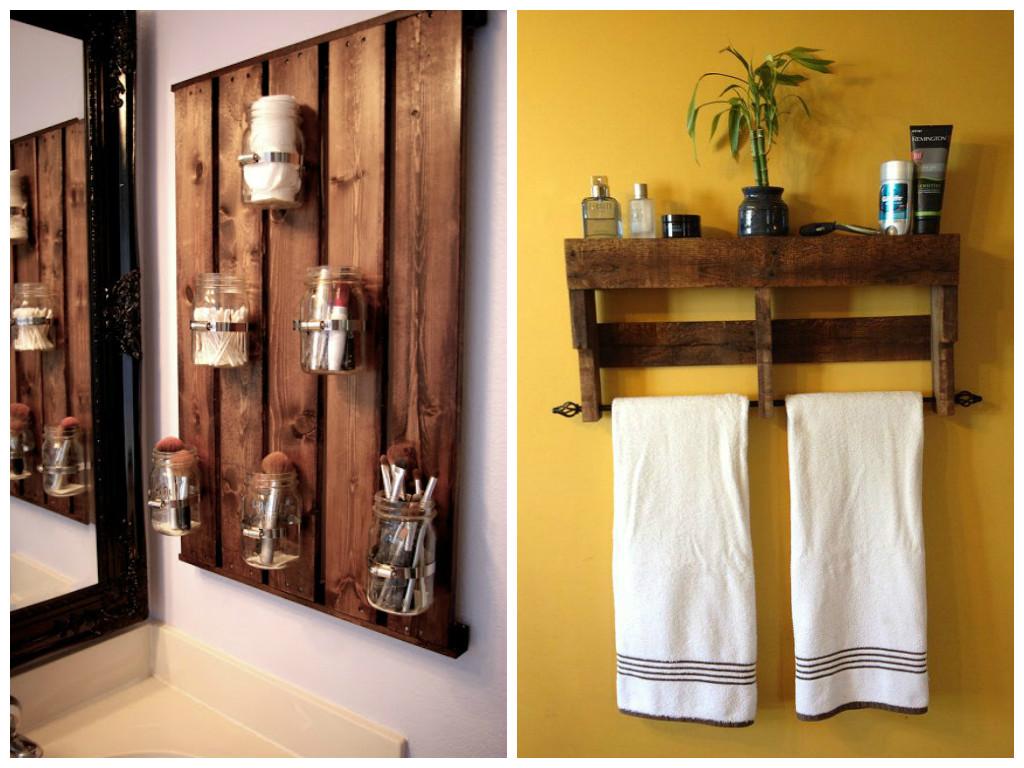 Pallet no banheiro  Joia de Casa -> Armario De Banheiro Artesanal