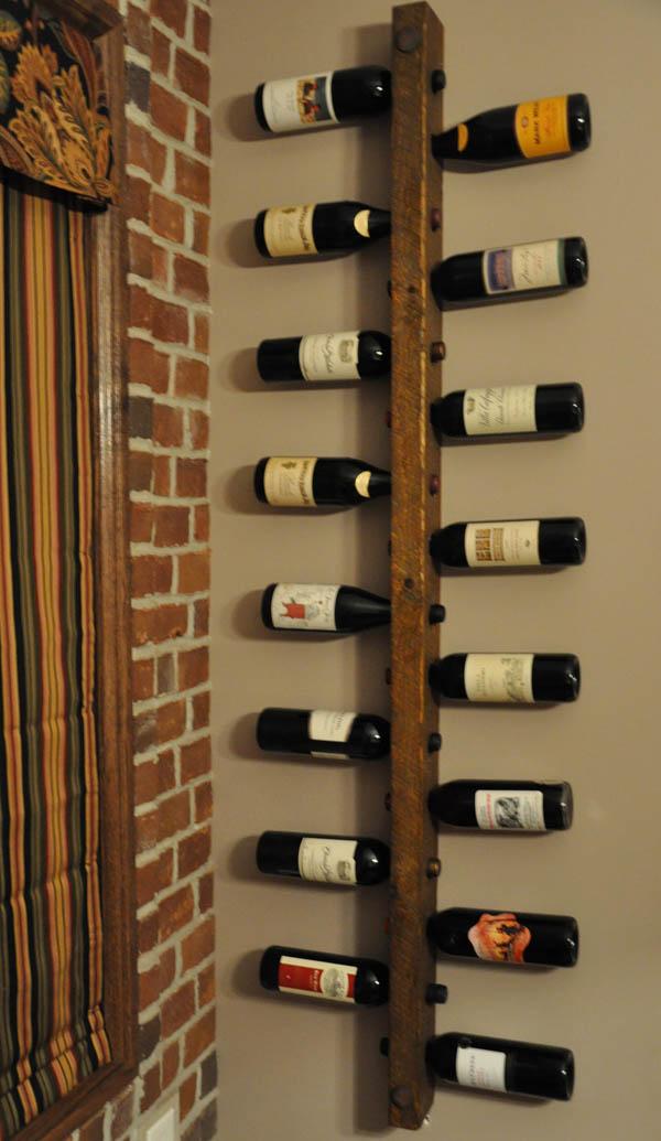 Mini adegas joia de casa - Botelleros de madera rusticos ...