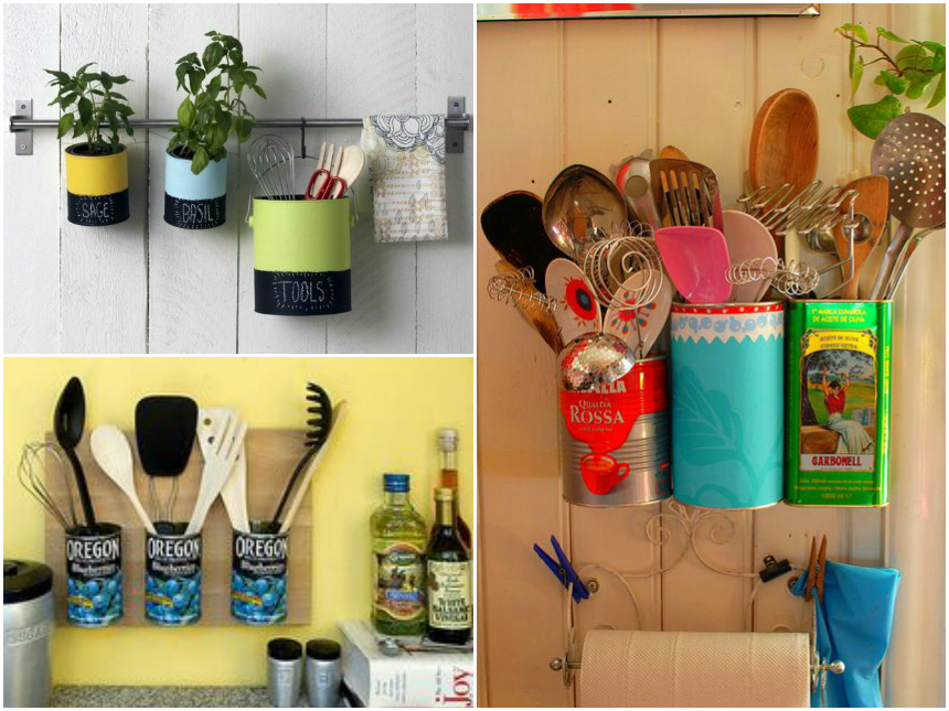 jardim vertical latas : jardim vertical latas:Na lata