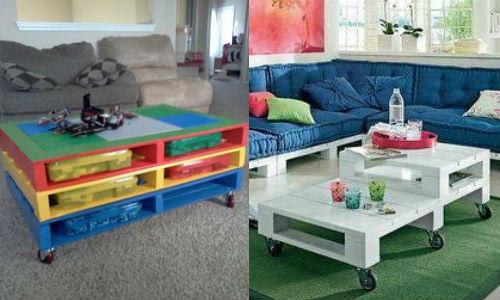 Mesa de centro com pallet joia de casa - Mesa centro palet ...