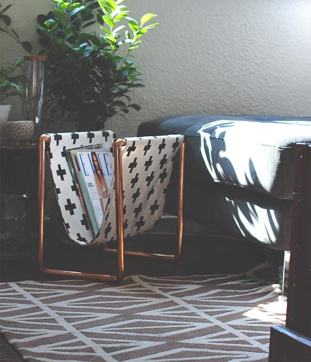 Fa a voc mesmo revisteiro de cano de cobre joia de casa for Decoracion del hogar facil y economico