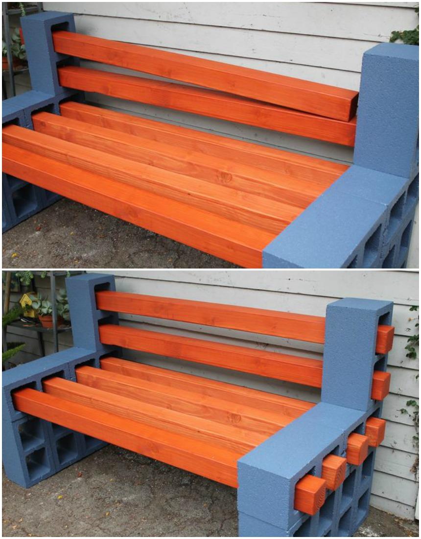 cerca de madeira para jardim passo a passo:banco de blocos_passo a passo 5_