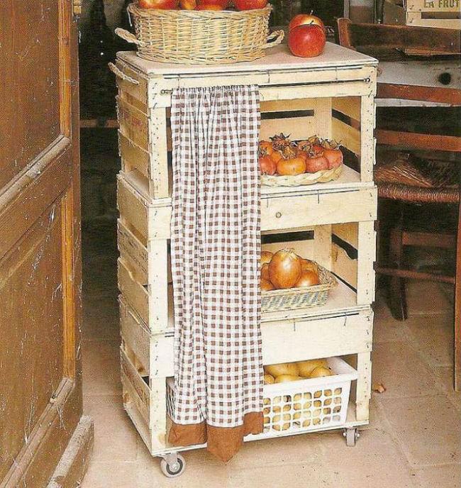 Dicas de reutiliza o de caixotes na cozinha joia de casa for Puertas de material reciclado
