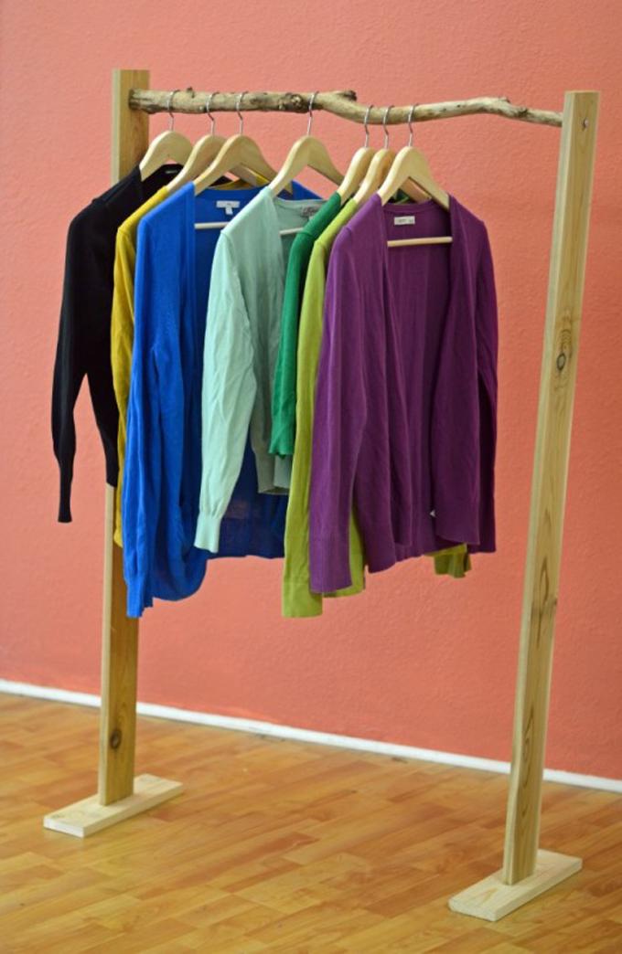 Ideias para fazer sua própria arara de roupas   Joia de Casa