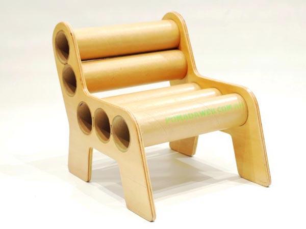 5 cadeiras de tubos de papel o joia de casa